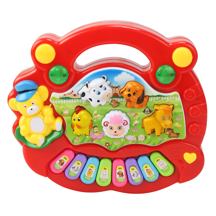 Animal music piano baby early learning toy electronic piano yakuchinone music piano(China (Mainland))