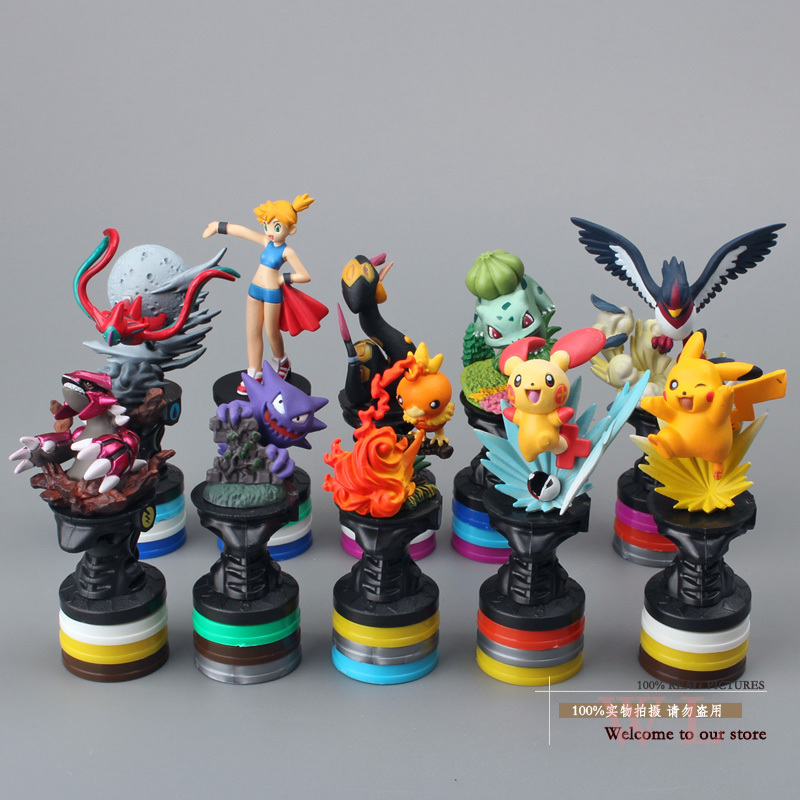 10pcs/set Pokemon Pocket Monster Pikachu PVC Action Figure Collection Model Toys Dolls Classic Toys(China (Mainland))