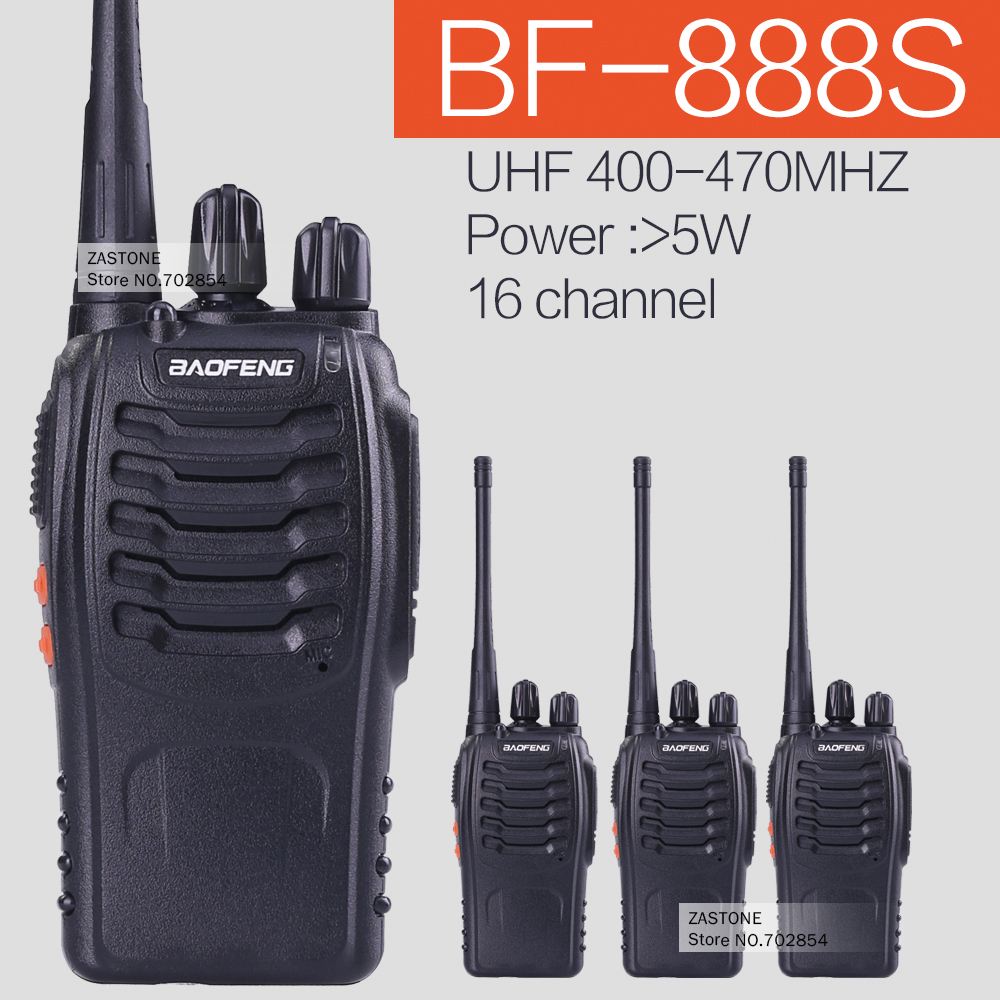 Walkie Talkie 4PCS/lot BaoFeng BF-888S Handheld Pofung Radios Transceiver UHF 5W 400-470MHz 16CH Cb Radio Two Way radio(China (Mainland))