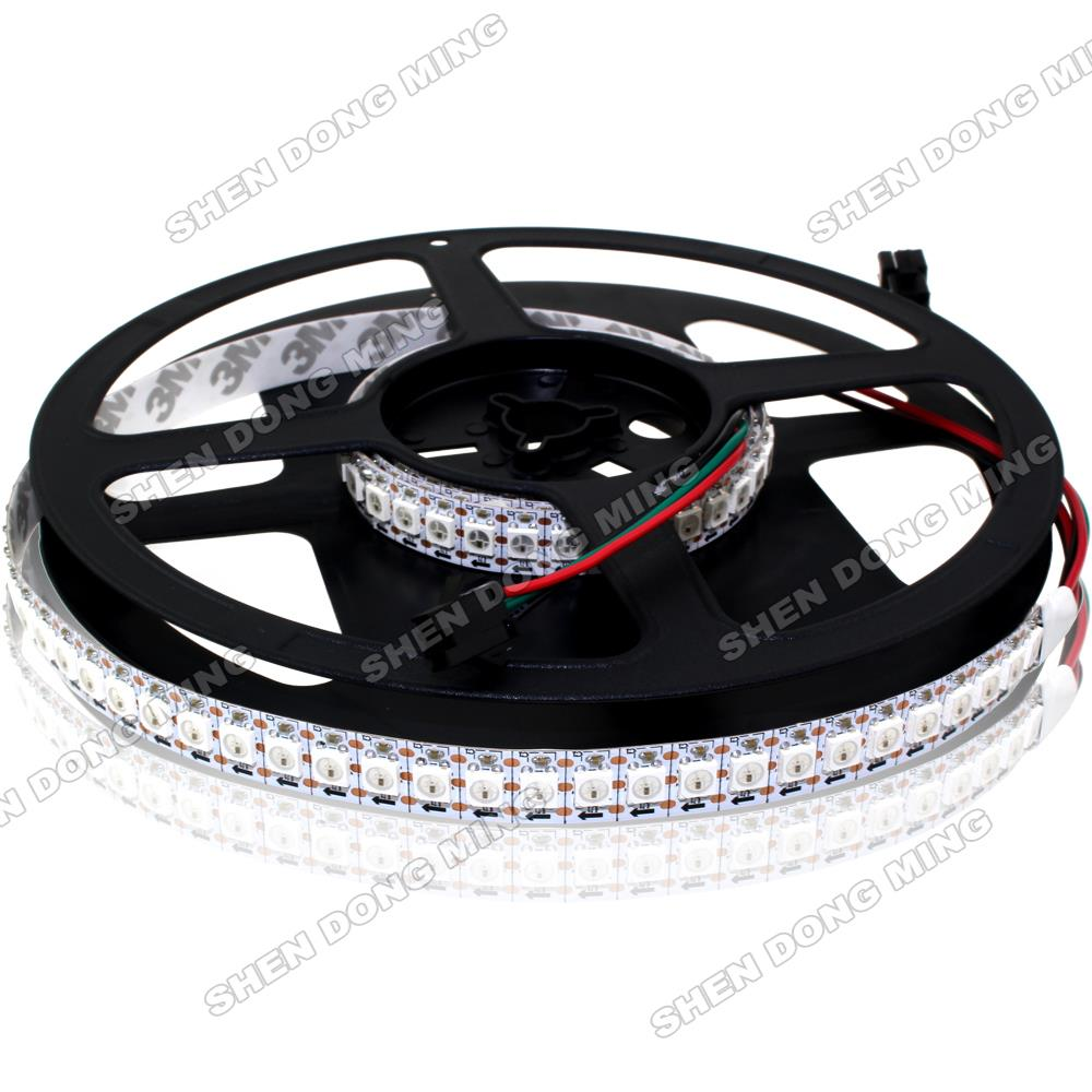 SMD5050 144leds/m 144IC/m WS2812 LED Strip Pixel Changeable Colors RGB LED no Waterproof LED Digital Strip WS2812 2m/roll(China (Mainland))
