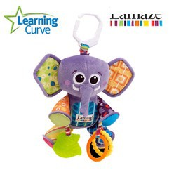 Early Development Toy cute baby toys plush multifunctional elephant bed hang purple stuffed educational - Baby Corner Store store