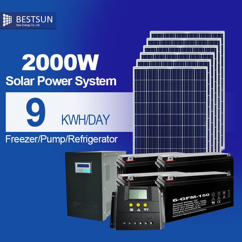 portable solar energy system 2000w friendly solar energy product solar power photovoltaic system on grid for sale solar module(China (Mainland))