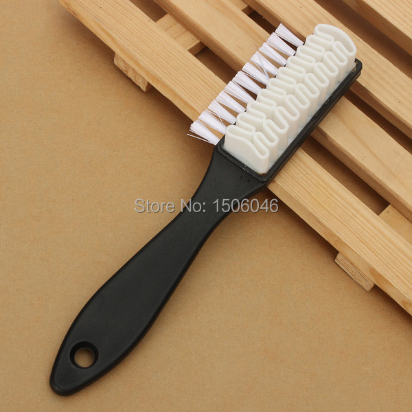 Best Price F Shape 2 Side Shoe Cleaning Brush Suede Nubuck Boot Shoes Care Polish Cleaner Wholesale Price Free Shipping(China (Mainland))