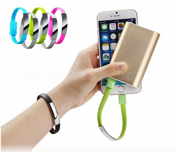 Bracelet 20cm Noodle Usb Charger Cable Sync Data Short Line Cabo For Apple Iphone 6 4.7 puls 5 5c 5s Cables for ipad mini 3 4(China (Mainland))