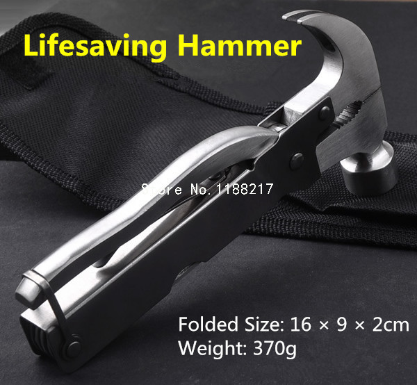 Fire Safety Security Essential Car Emergency Lifesaving Glass Hammer Combination Tool Escape Hammer R0077(China (Mainland))