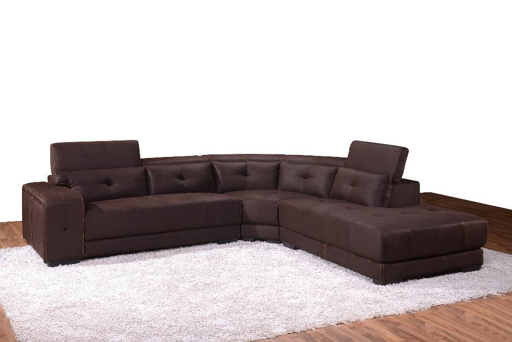 Popular Modern living room furniture sectional sofas in high quality fabric 1517(China (Mainland))