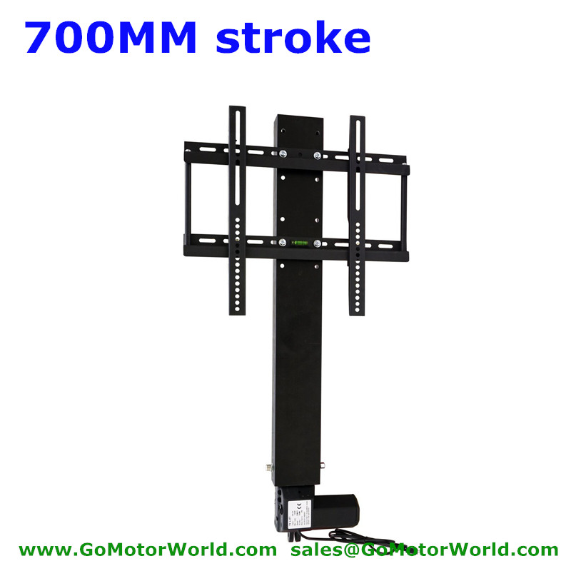 TV lift lifter motor TV lift stands system 700mm 28 inch stroke 110-240V AC input with remote and controller and mounting parts(China (Mainland))