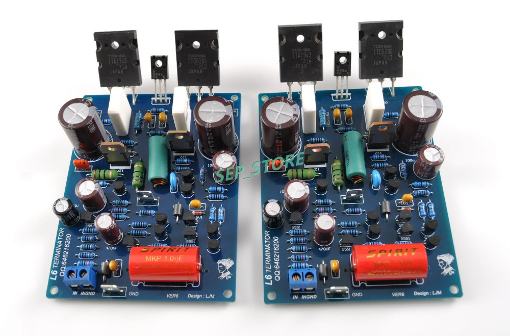 LJM Assembled L6 Duel Channel Audio Power Amplifier Board TOSHIBA 1943 5200(China (Mainland))