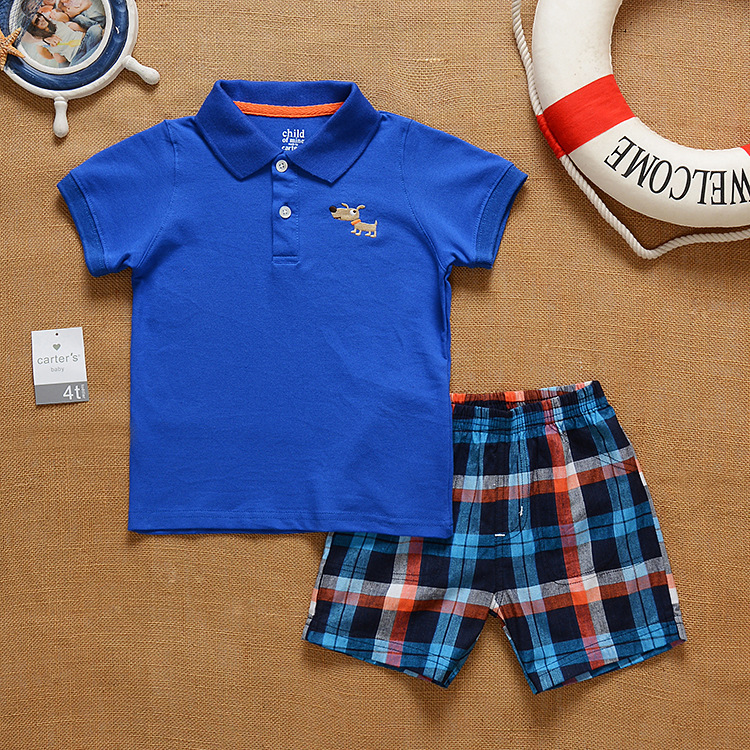 SS2-017, Original, New Collection, Toddler Boys 2-Piece Set, With Short-sleeve T + Shorts, Free Shipping(China (Mainland))