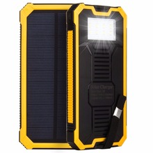 2016 new mah Waterproof solar power bank bateria externa solar charger powerbank for all mobile phone for pad wholesale
