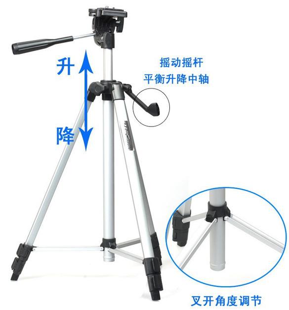Weifeng tripod wt-330a telephoto camera household digital camera tripod+Mobile Phone Holder Phone Bracket 1/4 Screew Mounting(China (Mainland))