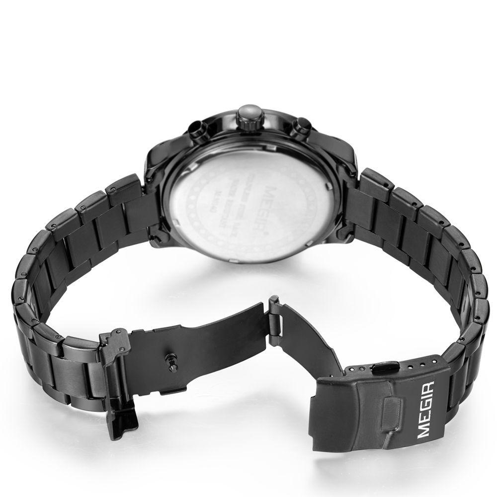MEGIR Бренд Мужской Хронограф Кварцевые Часы 24 Часы Авто Дата Многофункциональный Военная Часы Новый Стиль Часы Relógio Masculino