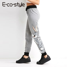 2016 Spring girls pants female casual sports pants all-match Bugs Bunny print trousers skinny pants leggings(China (Mainland))