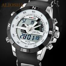 2015 WEIDE Luxury Brand Men diseñador 3ATM impermeable reloj deportivo multifunción de cuarzo Digital LED Backlight relojes militares