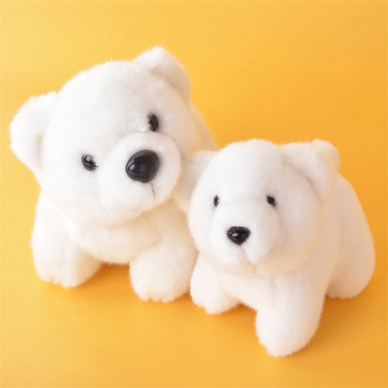 Plush Polar Bear Dolls Stuffed Animal Bears for Kids Gifts Cute Northern bear Toys for Collection White Bears(China (Mainland))