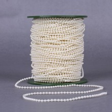 10Meters/bag 3MM pearl beads chain fishing line flower garland strands chandelier artificial pearls for wedding party decoration