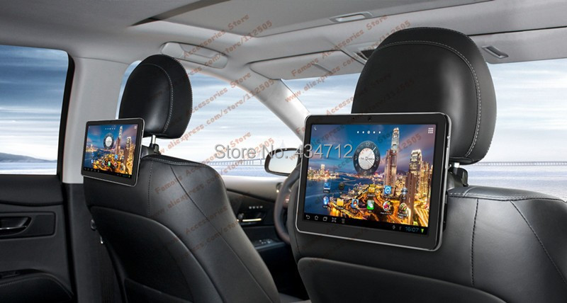 10.1 inch Car Headrest Android Pad Car PC with WI-Fi USB SD FM SPK Camera MIC 3G Office Game(China (Mainland))