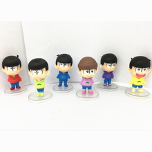[PCMOS]3″ Anime Mr.Osomatsu San Collectable Model 6pcs Set PVC Figure Loose Pack 16062302