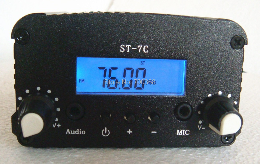 ST-7C 7W FM Audio amplifier,PLL stereo broadcast radio FM transmitter FM broadcast radio transmitter Frequency 76 ~ 108Mhz(China (Mainland))