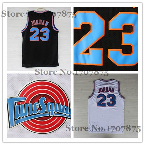 Chicago 23 Michael Jordan Tune Squad Basketball jersey,White Black LOONEY TOONES Jersey ,Rev 30 Sports Jerseys(China (Mainland))