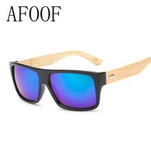 AFOOF 2016 New Fashion Bamboo Sunglasses Men Sun glasses Brand Designer Women Mirror Original Eyewear Oculos de sol Masculino
