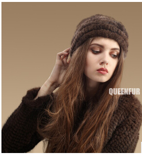New autumn/winter 2015 free of charge payment for goods imported mink hat fashion manufacturers wholesale knitting women(China (Mainland))