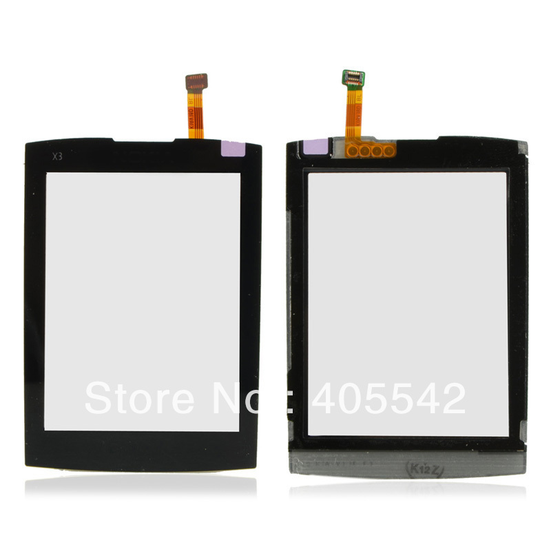 New Replacement Black Touch screen Digitizer Glass fit for Nokia X3 X3-02 B0107 P
