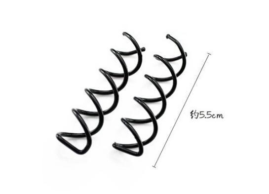 "New 2015 10pcs 1set New Metal Spiral Spin Screw Pin Hair Clip Twist Barrette 2"" Long(China (Mainland))"