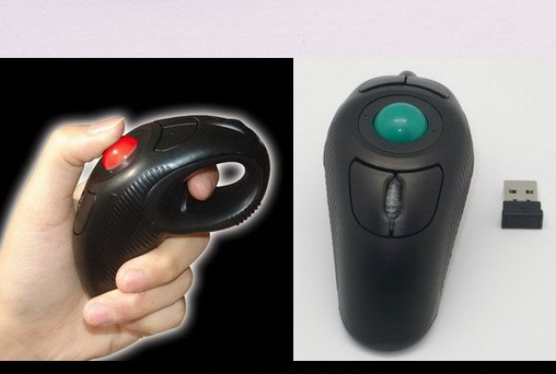 Hot rechargeable wireless 2.4G air mouse handheld trackball mouse with laser pointer for teachers dropmice(China (Mainland))