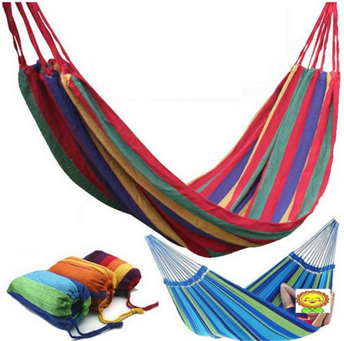 Double Cotton Fabric Hammock Air Chair Hanging Swinging Camping Outdoor New<br><br>Aliexpress
