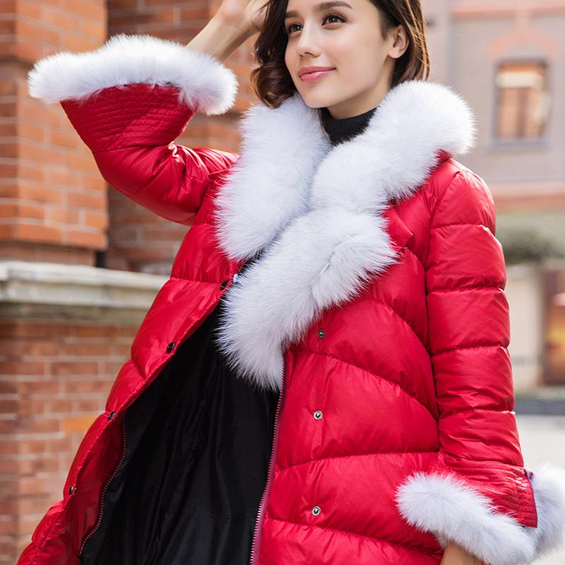 Здесь можно купить  Ladies 2015 winter new long thick fox fur down jacket down jacket girls factory outlet  Одежда и аксессуары