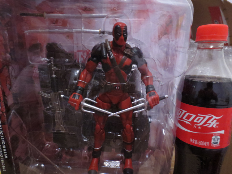 "X-man Deadpool Action Figure Weapon X Marvel Select DST 1/6 10"" PVC Collection Model Doll Hot Toys Children Kids Gift(China (Mainland))"