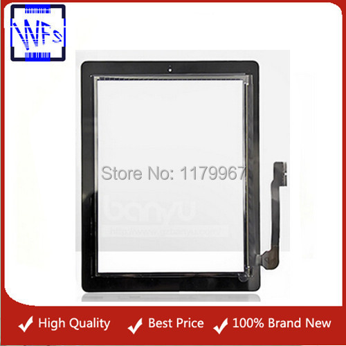 Black For apple ipad 4 glass 20 PCS/LOT OEM Touch Panel For iPad 4 Screen Digitizer Replacement for ipad 4 touch panel(China (Mainland))
