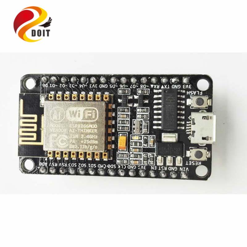 Official DOIT 5Newest ESP8266 Wireless WiFi Development Board NodeMCU Based ESP-12F Lua 4M Bytes - InRobotics store