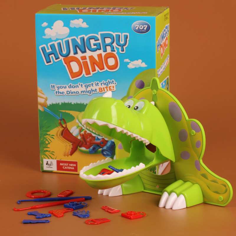 Fun Toys Fun Game Hungry Dino Dinosaur If You Don't Get It Right ,The Dino Might Bite Kids Children(China (Mainland))