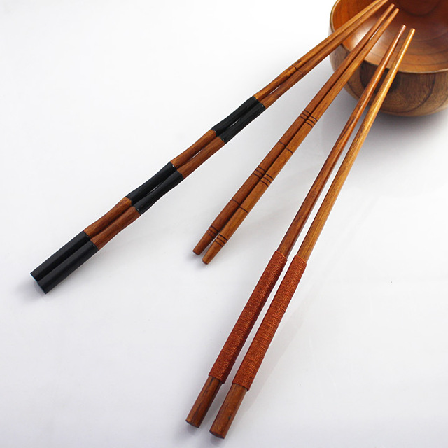 FREE Shipping 3Pairs/Lot New 2014 Natural Eco-friendly tableware handmade wooden lengthen chopsticks for chafing dish CK003