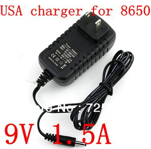 HOT SALE 9V 1.5A 3.5x1.35mm Power Charger AC Adapter USA Wall Charger Power Adapter For VIA 8650 Android 2.2 Tablet PC,10pcs/lot(China (Mainland))