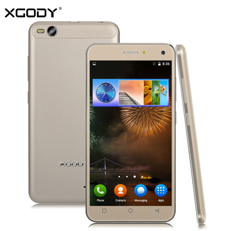XGODY Smartphone 5.0 inches Quad Core 1GB RAM 8GB ROM Android 5.1 2SIM Cards 3G Cell Phone with Phone Case(China (Mainland))