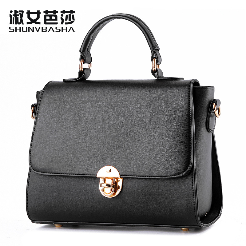 Small bag 2016 female bag new tide lock small Korean real Fashion Shoulder Messenger decorative buckle free sjipping(China (Mainland))