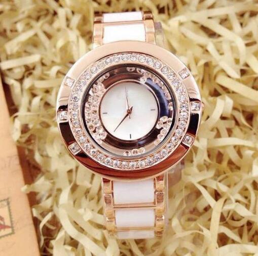 2016 New High Quality Luxury Crystal Diamond Watches Women Gold Watch Steel Strip Rose Gold Sparkling Dress Wristwatch Drop Ship(China (Mainland))