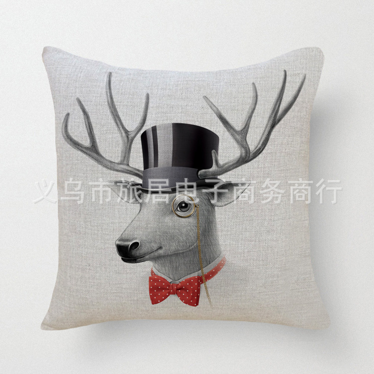 Housse De Coussin Scandinavian Cuscini Pouf 18 X 18 Inches Cartoon Deer Decorative Pillows Home Decor Cushions Cojines Futon