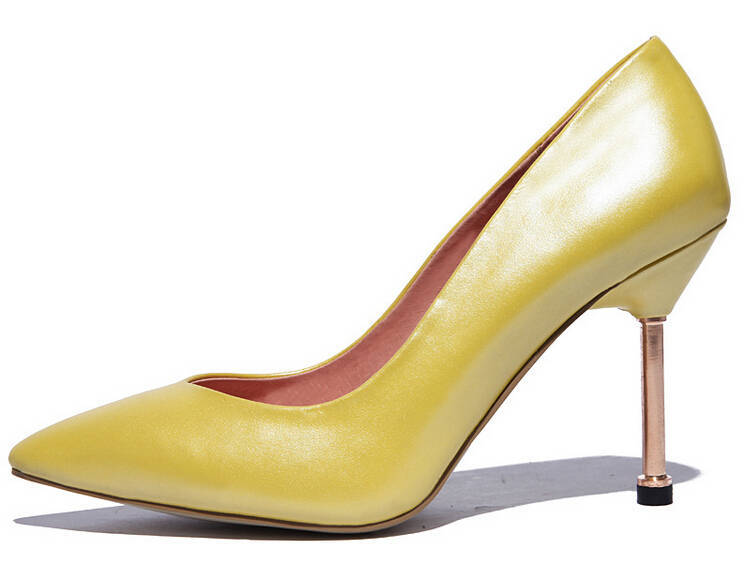 2015 New Full Leather Thin High Heels Sex And Elegant Solid Genuine Leather Pumps European And American Fashion Style rbx195<br><br>Aliexpress