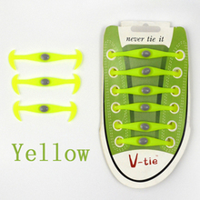 12pcs/box 2016 new funny gadgets convenient lock colorful elastic no tie silicone shoelaces lazy shoe laces for sneaker M000(China (Mainland))
