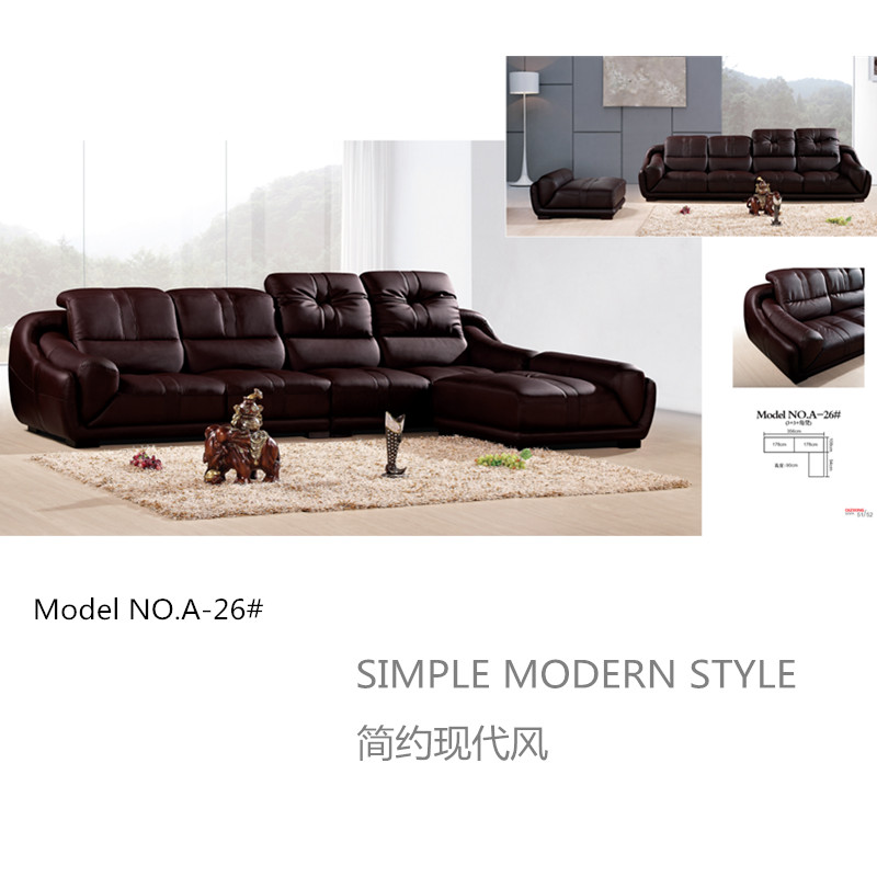 Luxury top grain leather Sofa set,high-grade modern style living room sofa,best recliner leather sofa factory in China(China (Mainland))