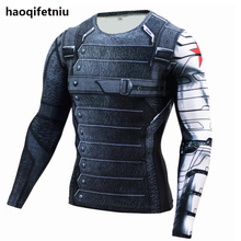 Buy New Marvel Superhero Winter Soldier Bucky 3D Men T Shirt Fitness Crossfit T-Shirt Long Sleeve Compression Shirt Mens for $6.70 in AliExpress store