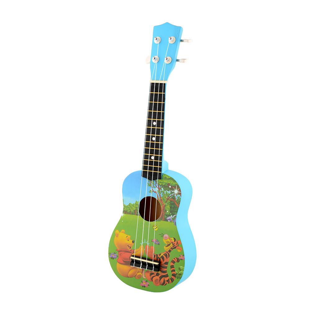 New Cute Lovely Blue Winnie Bear 4 Strings Ukulele Guitar for Kid Children(China (Mainland))