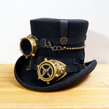 Steampunk Vintage wool Hat hand made
