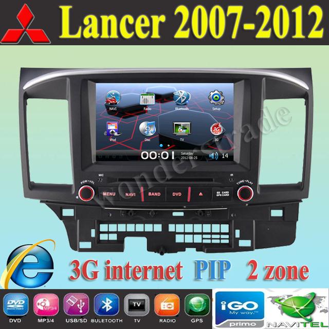 "8"" Car DVD Player  GPS navigation autoradio For Mitsubishi Lancer 2007 2008 2009 2010 2011 2012 + 3G internet / Free Shipping"