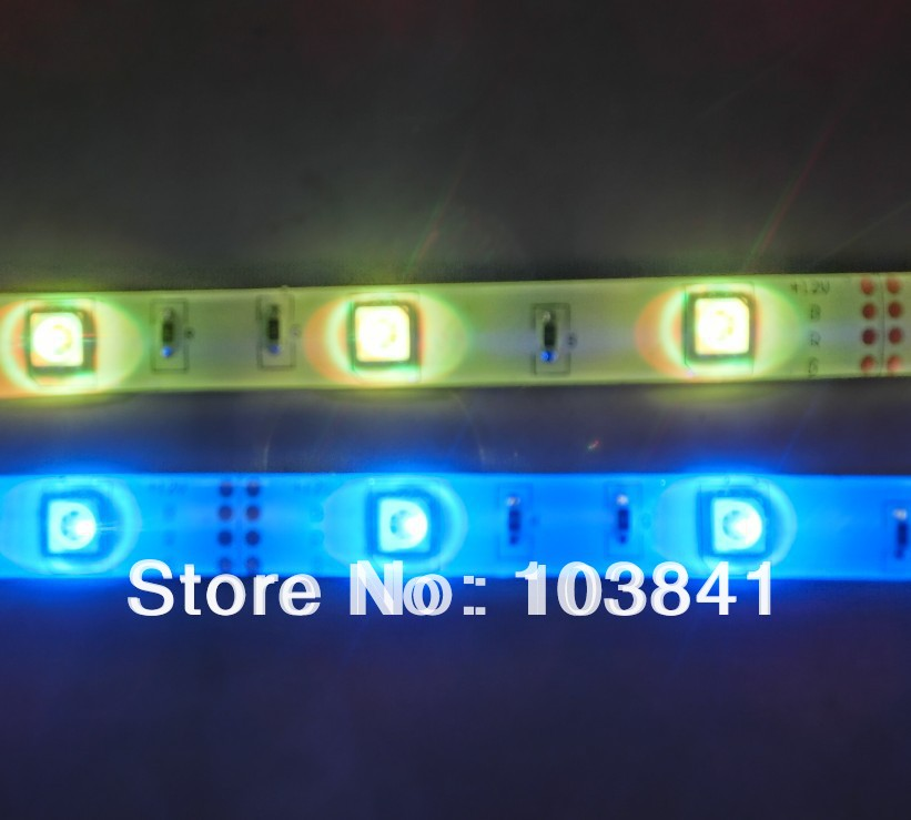 Retail High quality 2 years warranty Waterproof 5m 5050 SMD RGB LED ribbon 150LEDs/Roll+ IR Remote controller free shipping(China (Mainland))