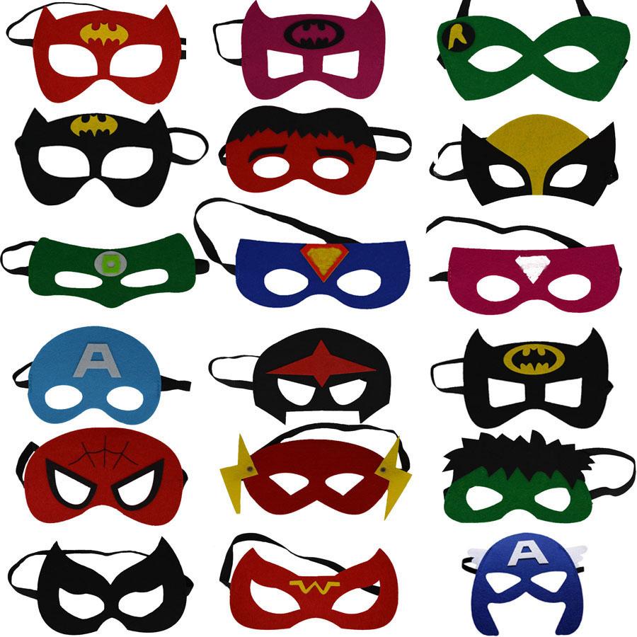 2017 Kids Superhero Mask Cosplay Party Mask Ironman Star Wars Hulk Superman Spiderman Batman Halloween Mask(China (Mainland))